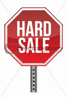 hard sale sign illustration