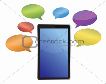 messages around a tablet