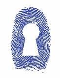 fingerprint lock illustration