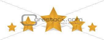 rating gold stars illustration