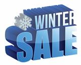 winter sale 3d text