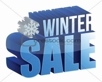 winter sale 3d text