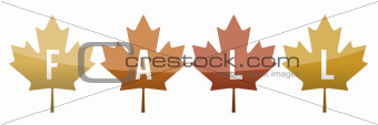 Fall leaves illustration design