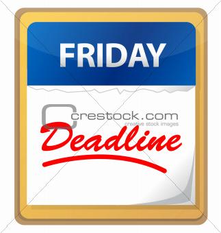deadline calendar illustration design