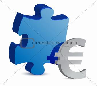 puzzle and euro illustration design