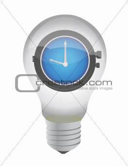 lightbulb and watch