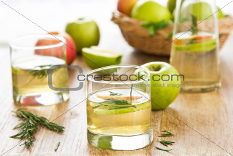 Apple juice with Rosemary