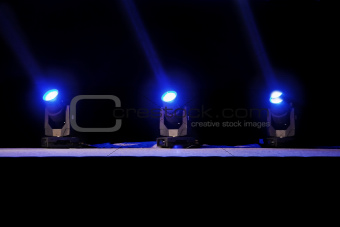 Stage lights action