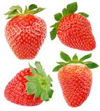 Set of strawberry fruits