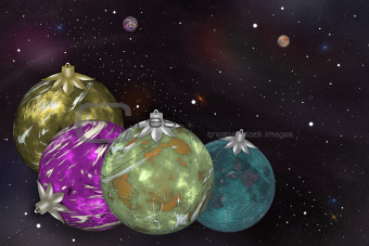 Cosmic Christmas balls of planets