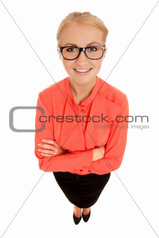 Funny portrait of young woman