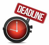 deadline watch sign