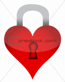 heart lock illustration