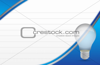 lightbulb and notepad