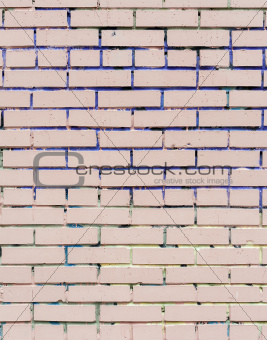 pink painted brick wall