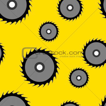 Circular saw blade seamless wallpaper