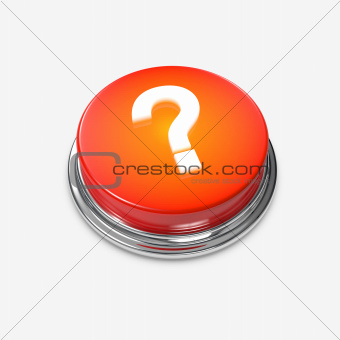 Red glowing Alert Button Question Mark