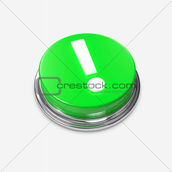 Green Alert Button Exclamation Mark