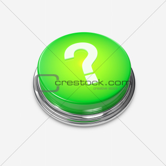 Green glowing Alert Button Question Mark