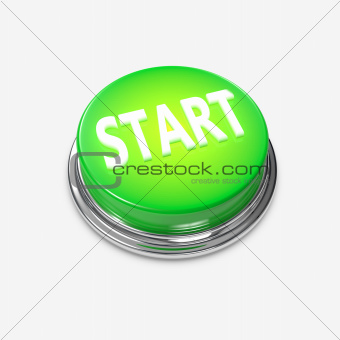 Green glowing Alert Button Start