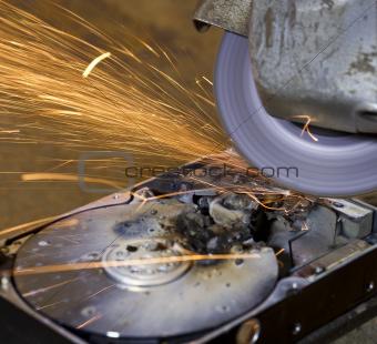 hard disk grinding