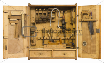 historic tool cabinet