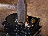 hammer and burning hard disks