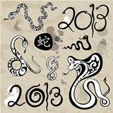 Year snakes symbol set
