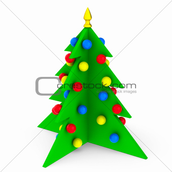 Bright Christmas Tree isolated
