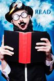 Funny Wizard Reading Magic Book Of Inspiration