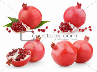 Set of pomegranate fruits