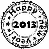 Happy new year 2013 stamp