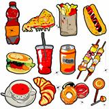 scarry fast food elements