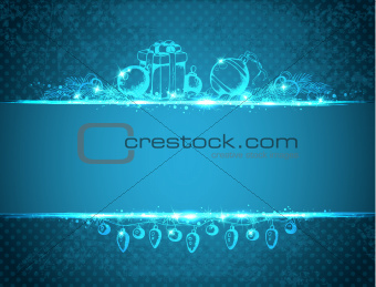 Vintage blue Christmas background
