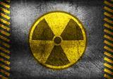 Grunge nuclear radiation symbol