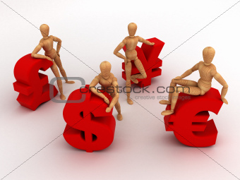 Money Team (With clipping path)