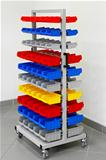 Colourful workshop cart