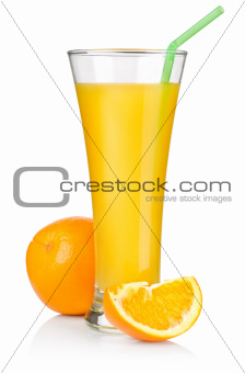 Juice and fruit isolated