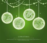 Christmas balls with doodle texture