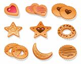 Set of different cookies