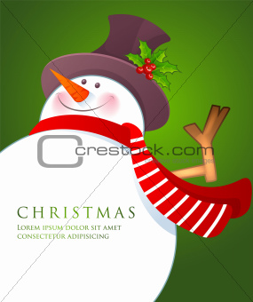 Christmas Snowman wiht red scarf