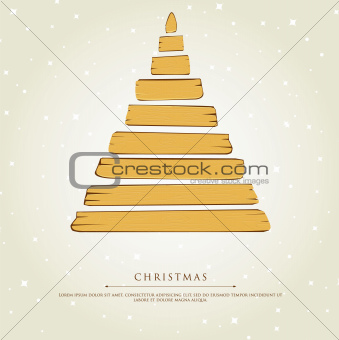 Stylized xmas tree