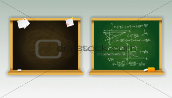 Black and green school boards