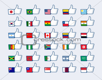 Thumb up flags