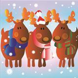 3 Christmas reindeer