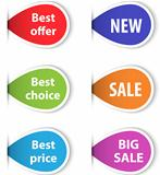 Set of colorful sticky labels for shopping