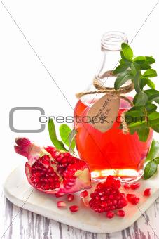 Homemade pomegranate juice.