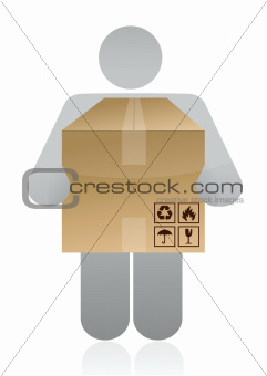 icon carrying a box