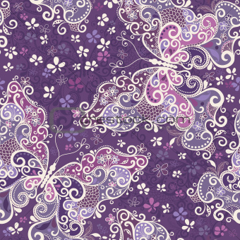 Seamless violet motley pattern