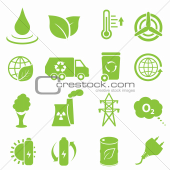 Ecology and environment icons